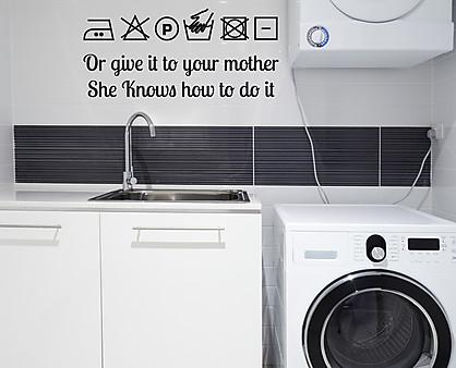 lavanderia adesivo decorativo da parete