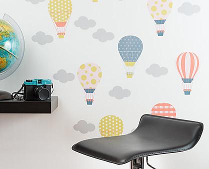mongolfiere adesivo murale per bambini
