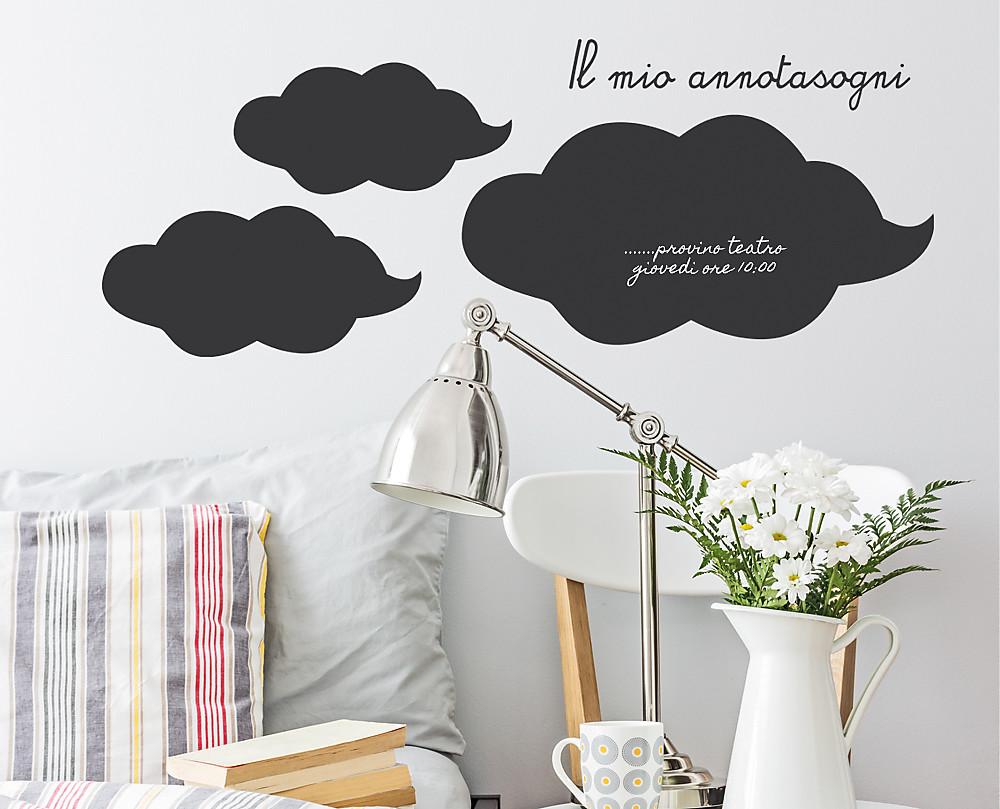lavagna nuvola decorazione adesiva murale