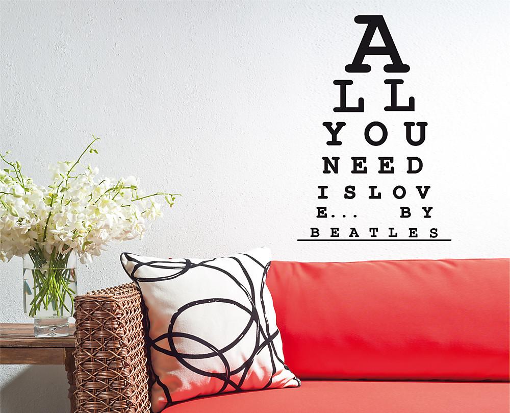 Adesivo Murale Oculista Innamorato  Decoramoit