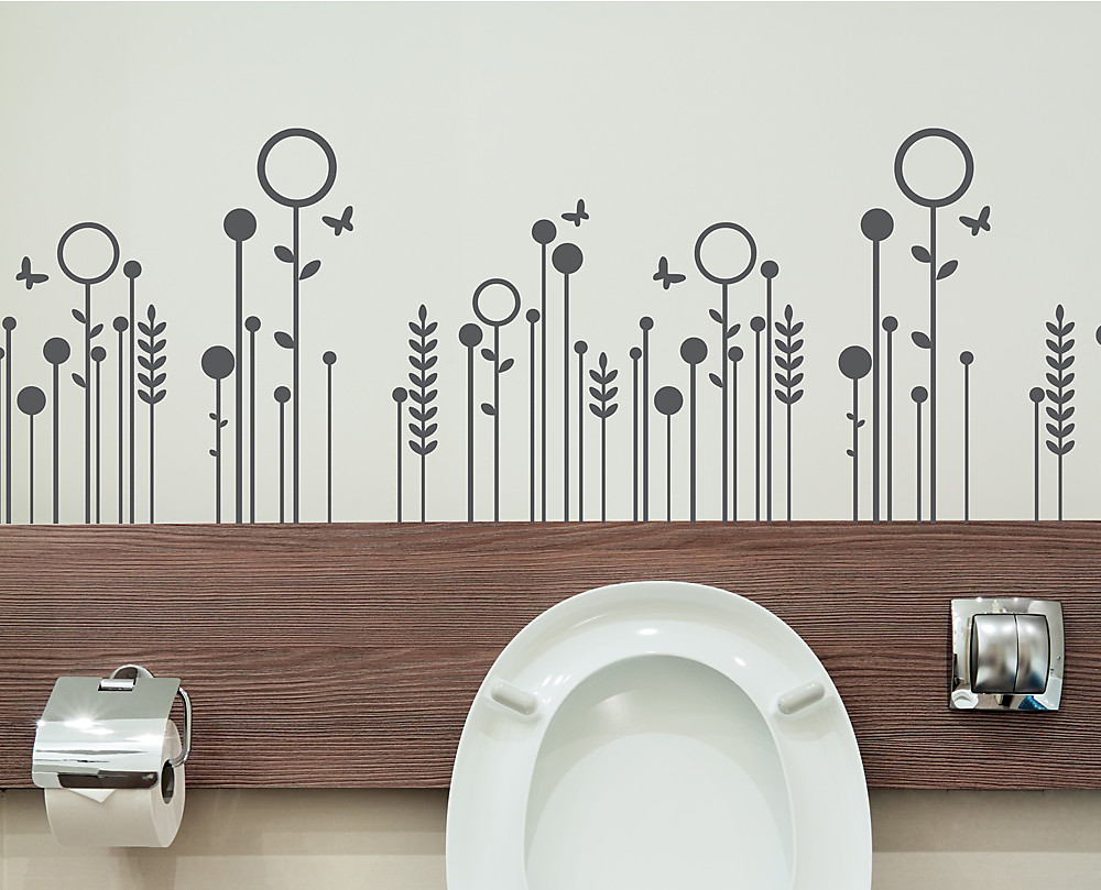 sticker fiori stilizzati decorazione adesiva murale