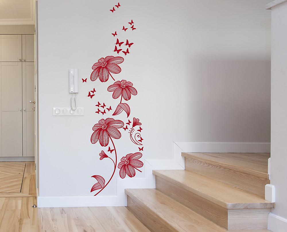 wall sticker tralcio decorazione adesiva floreale