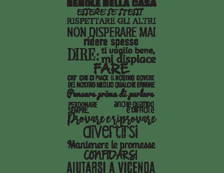 Adesivo Murale Codice della Famiglia  Decoramoit