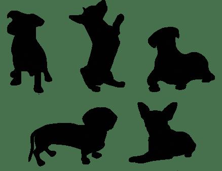 sticker sagome cani decorazione adesiva murale