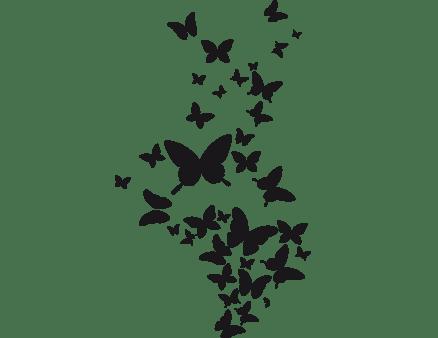 farfalline decorazione adesiva da parete
