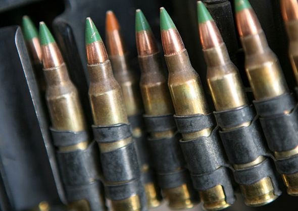 5.56 mm M855 green tip rounds.