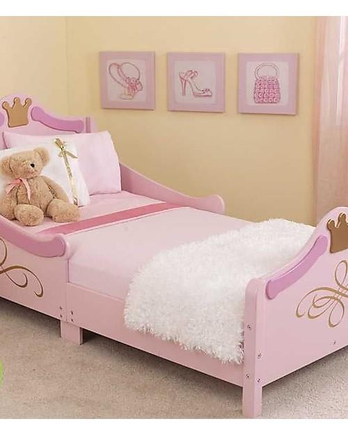 kidkraft princess toddler bed with gold