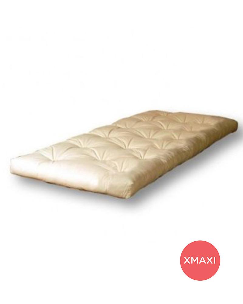 Woodly Materasso Futon XMAXI 120 x 200 cm  100 Puro Cotone  Perfetto per Letto Basso o