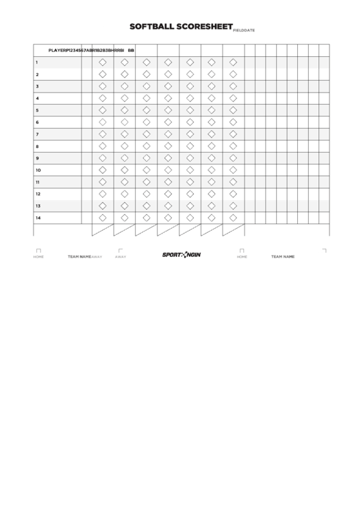 122 Sport Score Sheets free to download in PDF