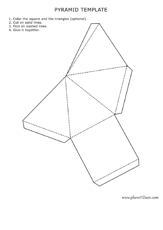 Pyramid Template printable pdf download