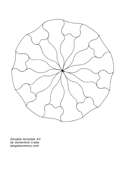 Zendala Template printable pdf download