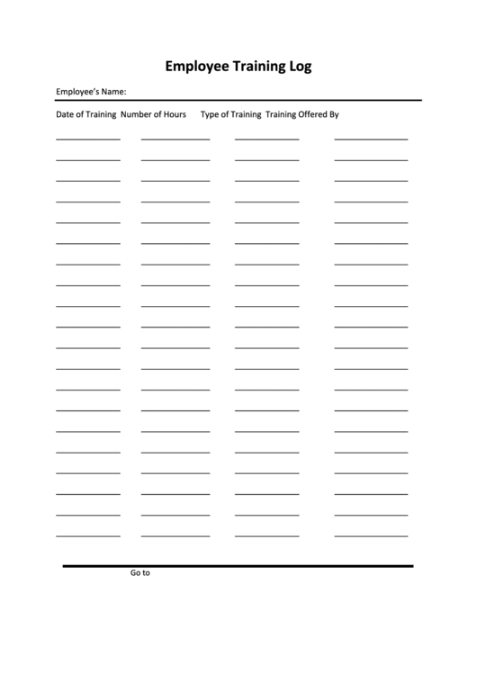 Top 6 Staff Training Log free to download in PDF format