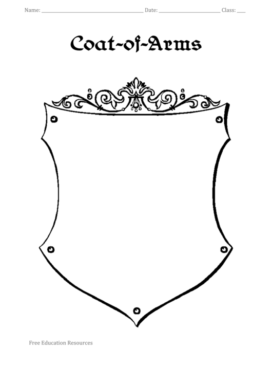 Coat-Of-Arms Template printable pdf download