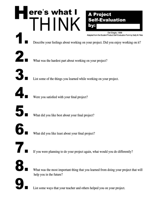 Top 18 Student Self Evaluation Form Templates free to