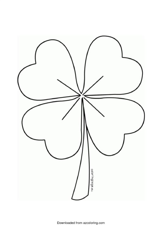 Four Leaf Clover Template printable pdf download