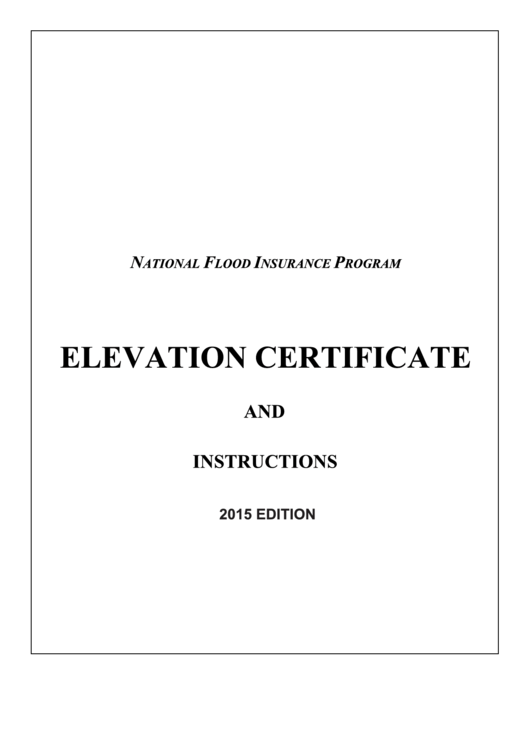 Fillable Fema Form 086-0-33 Elevation Certificate