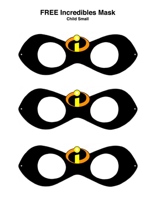 Incredibles Mask Templates printable pdf download