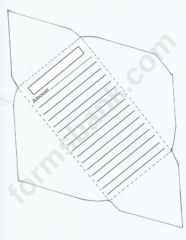 Money Envelope Template printable pdf download