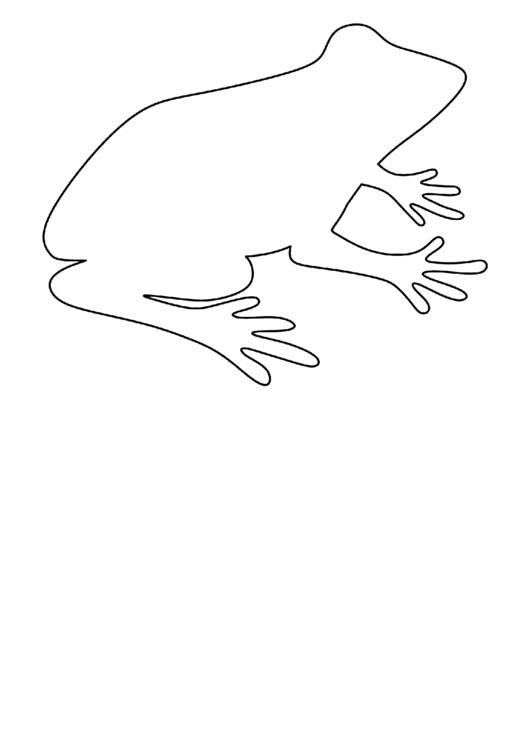 Frog Pattern Template printable pdf download