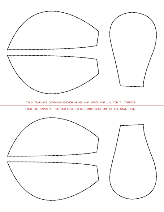 Turkey Wing And Head Templates printable pdf download
