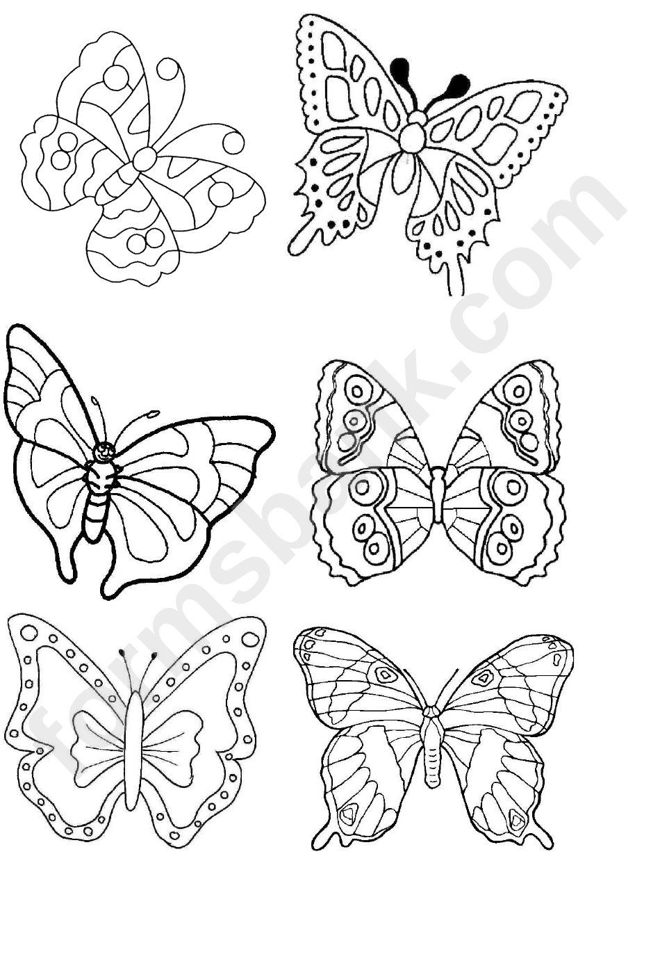 Butterfly Template With Ornaments