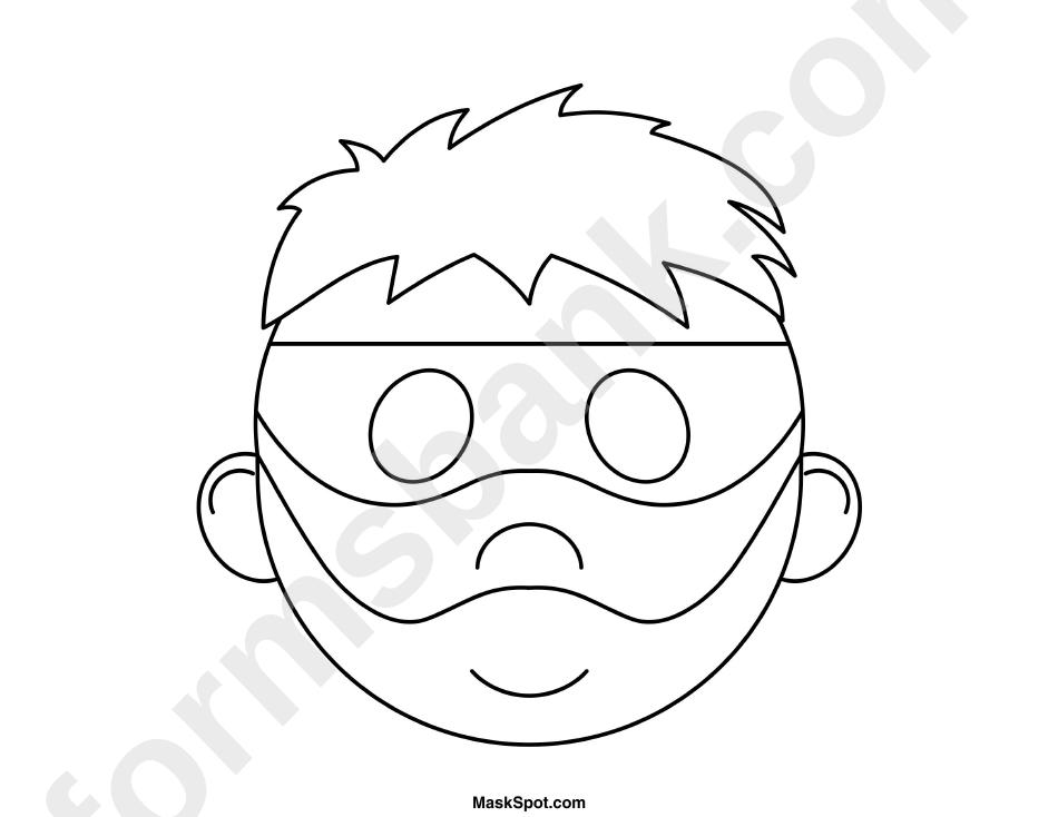Burglar Mask Template To Color printable pdf download