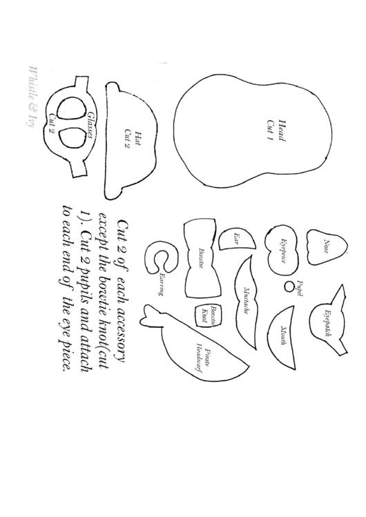 Mr. Potato Head Template printable pdf download