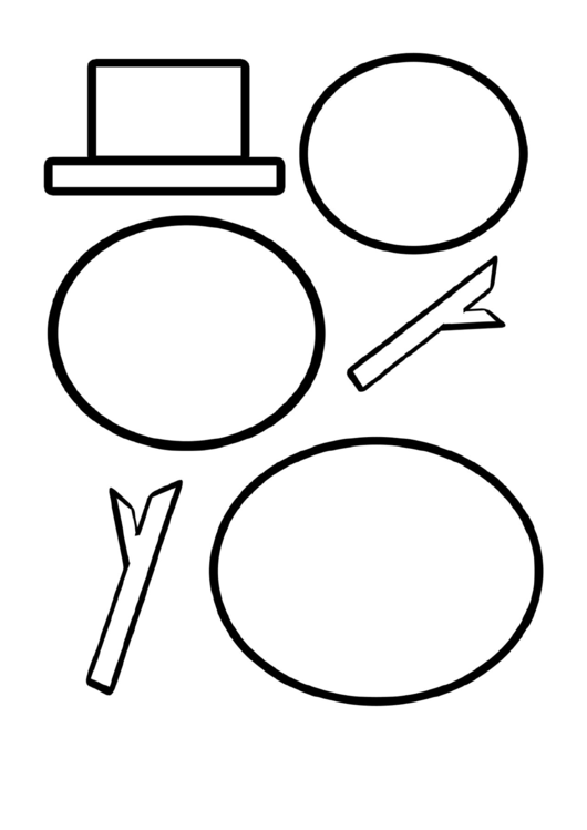 Scissor Cutting: Snow Man Template printable pdf download