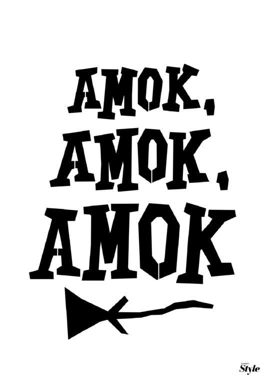 Amok Amok Amok Poster Template printable pdf download