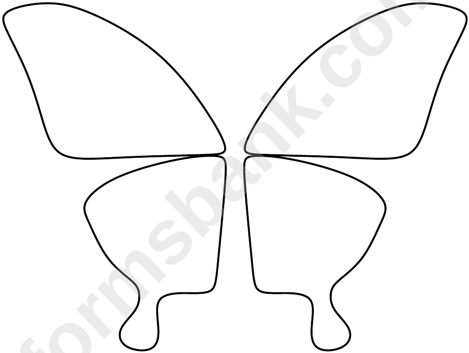 Butterfly Wings Template printable pdf download