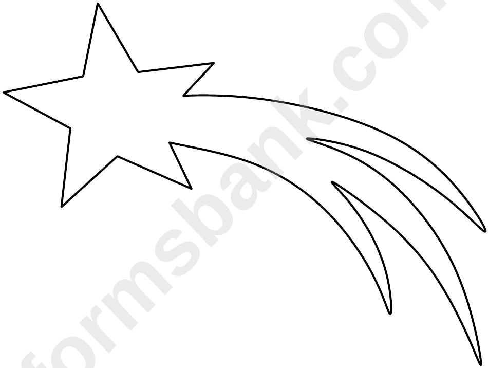 Shooting Star Template printable pdf download