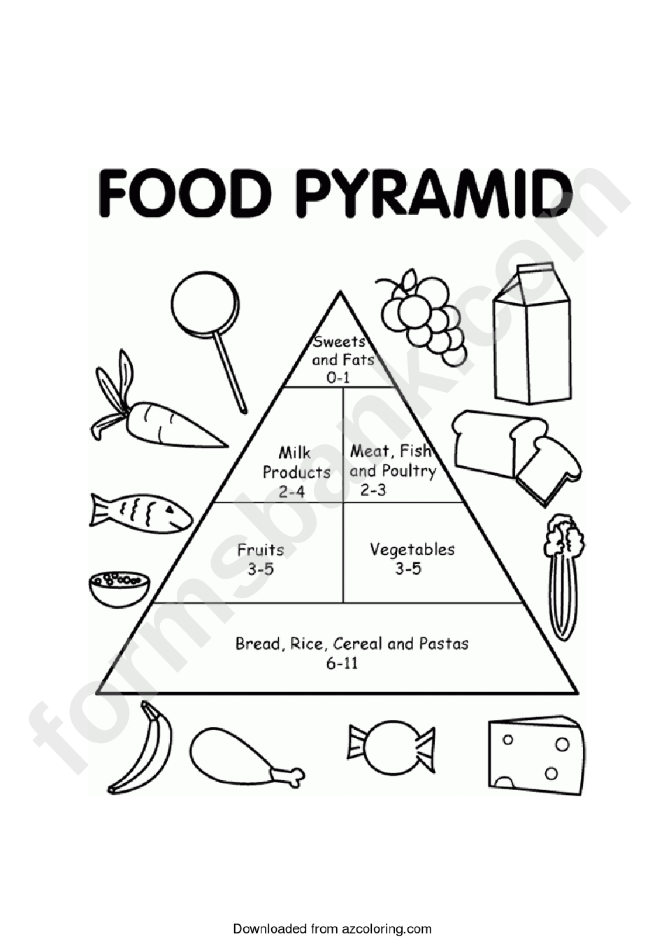 Food Pyramid Chart printable pdf download