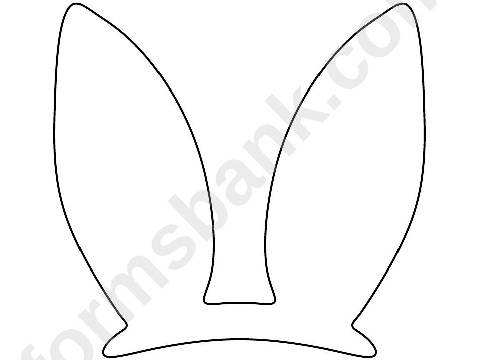 Easter Bunny Ears Template printable pdf download