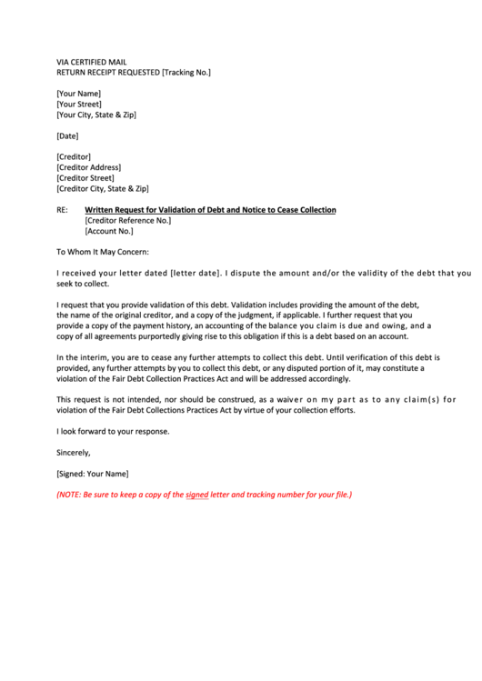 Sample Validation Letter Response To