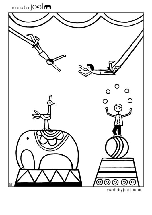 Circus Coloring Sheet printable pdf download