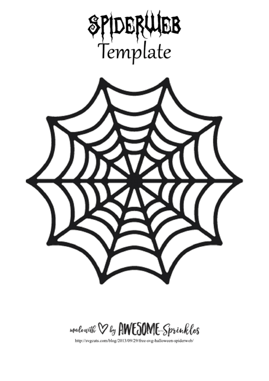 Spider-Web Template printable pdf download