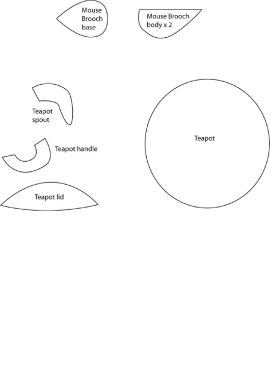 Cut-Out Teapot Template printable pdf download