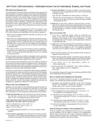 Estimated Income Tax Worksheet - 2017 printable pdf download