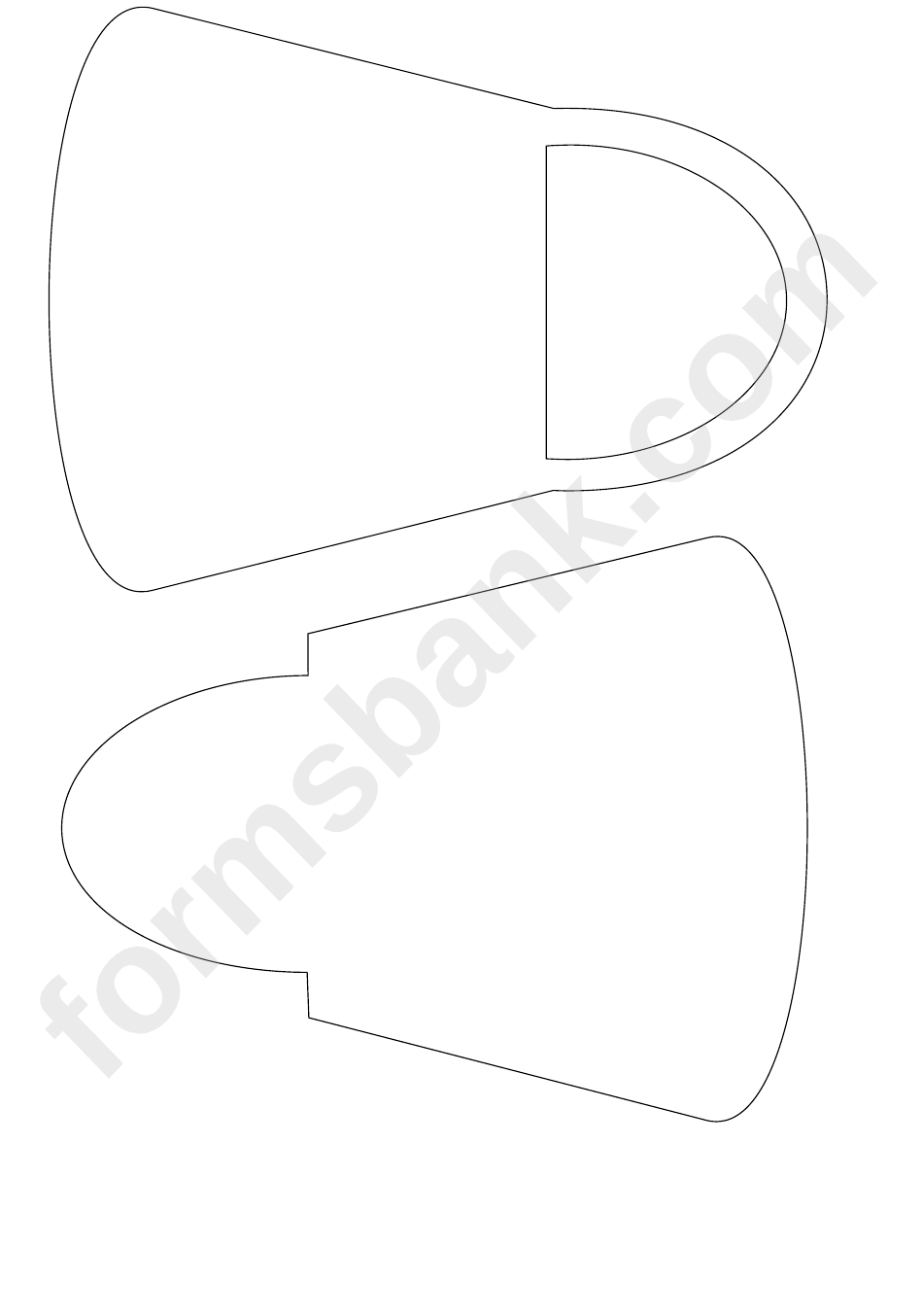 Paper Purse Template printable pdf download