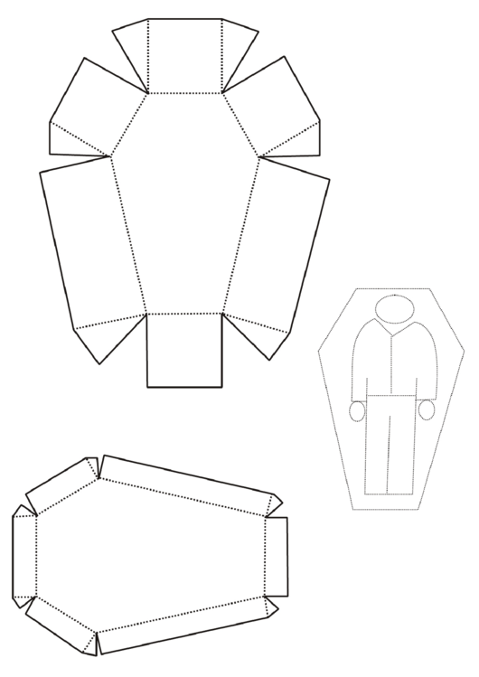 Coffin Box Template printable pdf download
