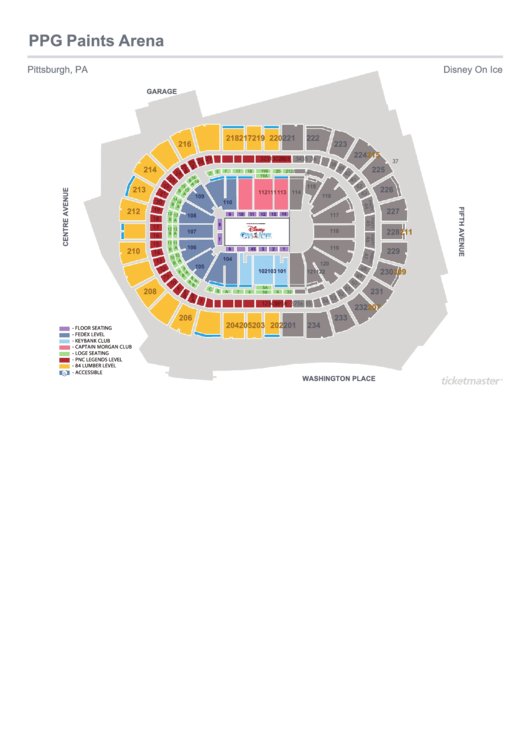 Ppg Paints Arena Seating Chart Printable Pdf Download