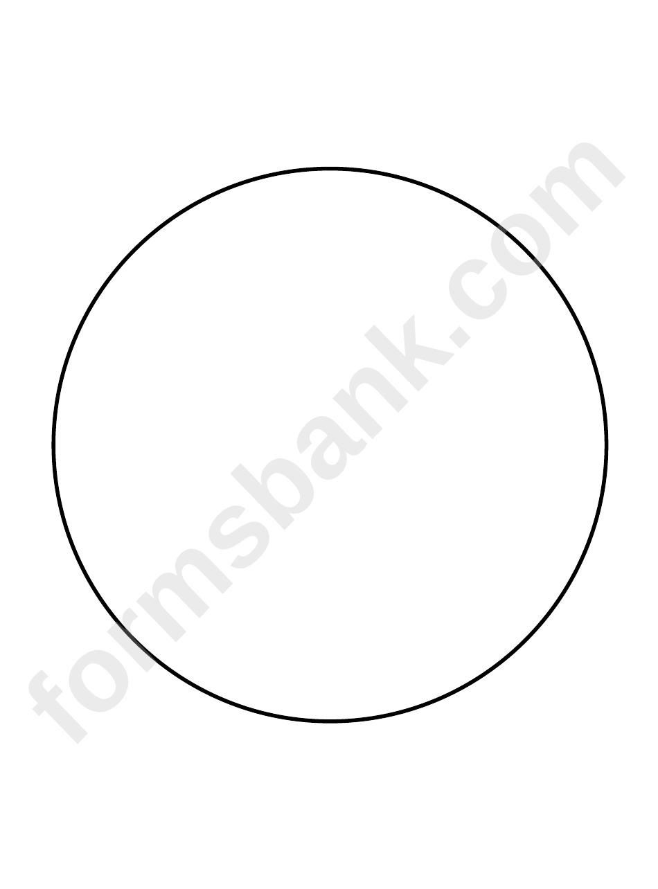 6 Inch Circle Template printable pdf download