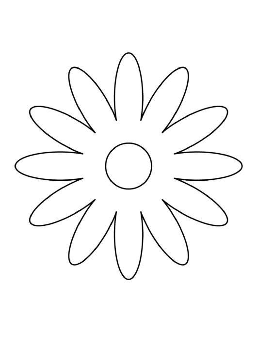Daisy Petal Template printable pdf download