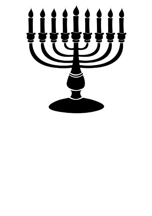 Hanukkah Menorah Temple printable pdf download