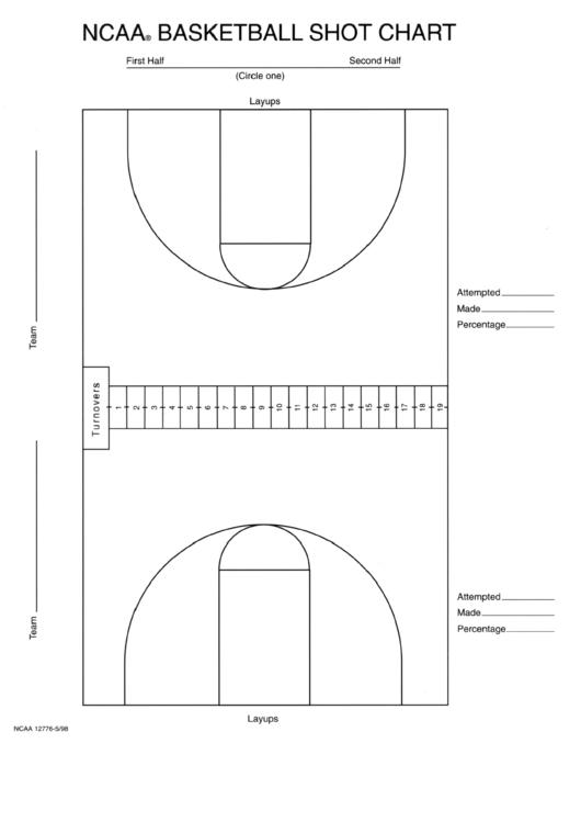 Basketball Shot Chart printable pdf download