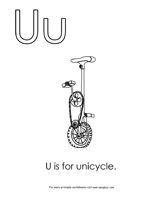 U Is For Unicycle printable pdf download
