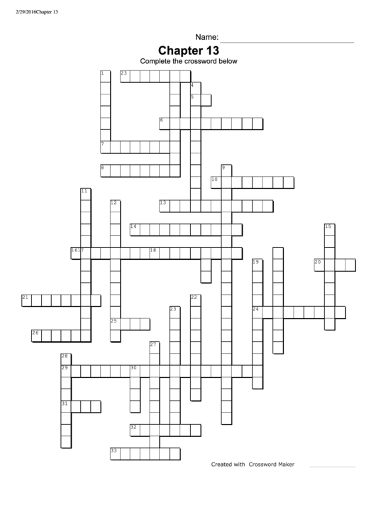 Top 284 Crossword Puzzle Templates free to download in PDF