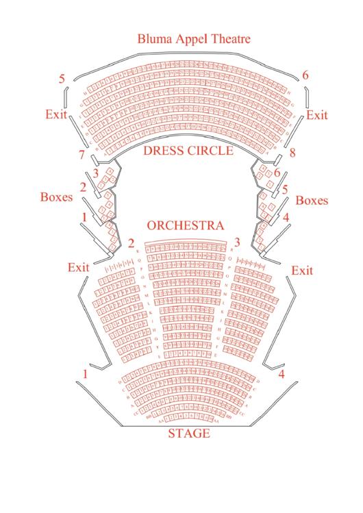 Bluma Appel Theatre Seating Chart printable pdf download
