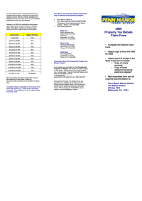Property Tax Rebate Claim Form 2008-2009 printable pdf ...