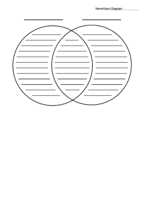 Venn Diagram Worksheet  Black And White printable pdf download